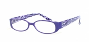 HIP Leesbril paars gevlekt +1.0