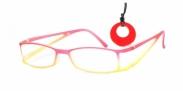 HIP Leesbril Duo mat rood/oranje +1.5